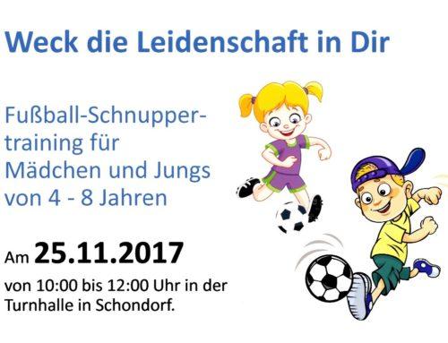 Fussball-Schnupper-Training