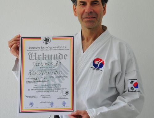 Abteilung Taekwon-Do,  Großmeister Nüsrettin mit 8. DAN geehrt