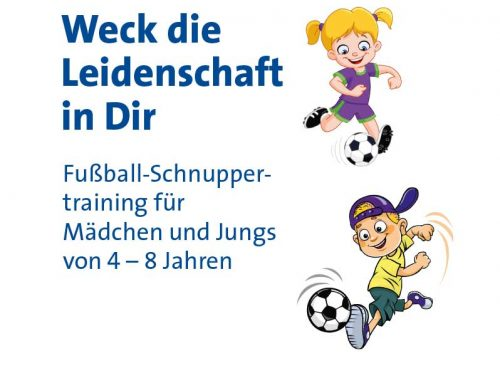 ACHTUNG NEUER TERMIN!!! Fußball-Schnuppertraining am Sonntag 17.11.2019