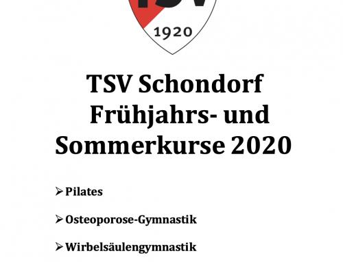 Frühjahrs-/Sommerkurse 2020