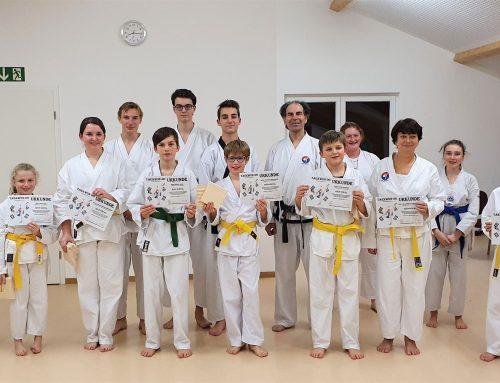 Abteilung Taekwon-Do,  Prüfung vor Weihnachten