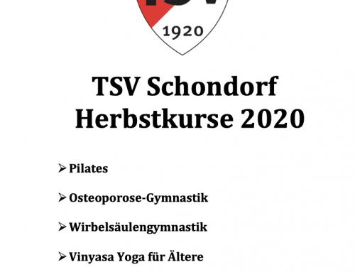 Neue Herbstkurse 2020 beim TSV Schondorf
