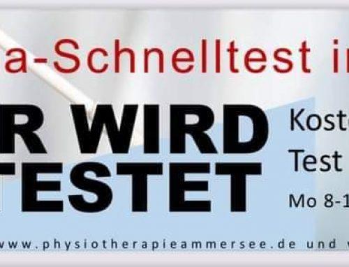 Schondorfer Testzentrum ab 12.04.2021!